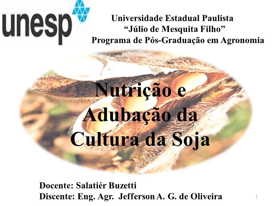 Nutrição e Adubação da Cultura da Soja