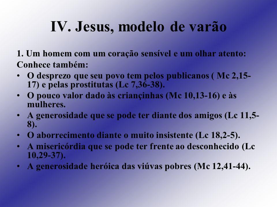 IV. Jesus, modelo de varão