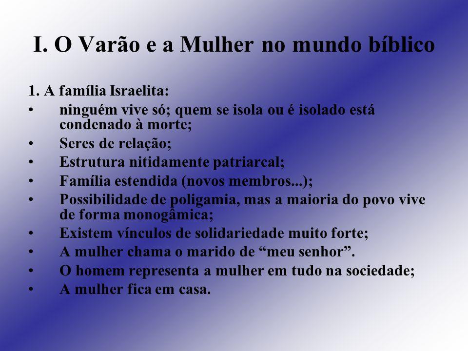I. O Varão e a Mulher no mundo bíblico