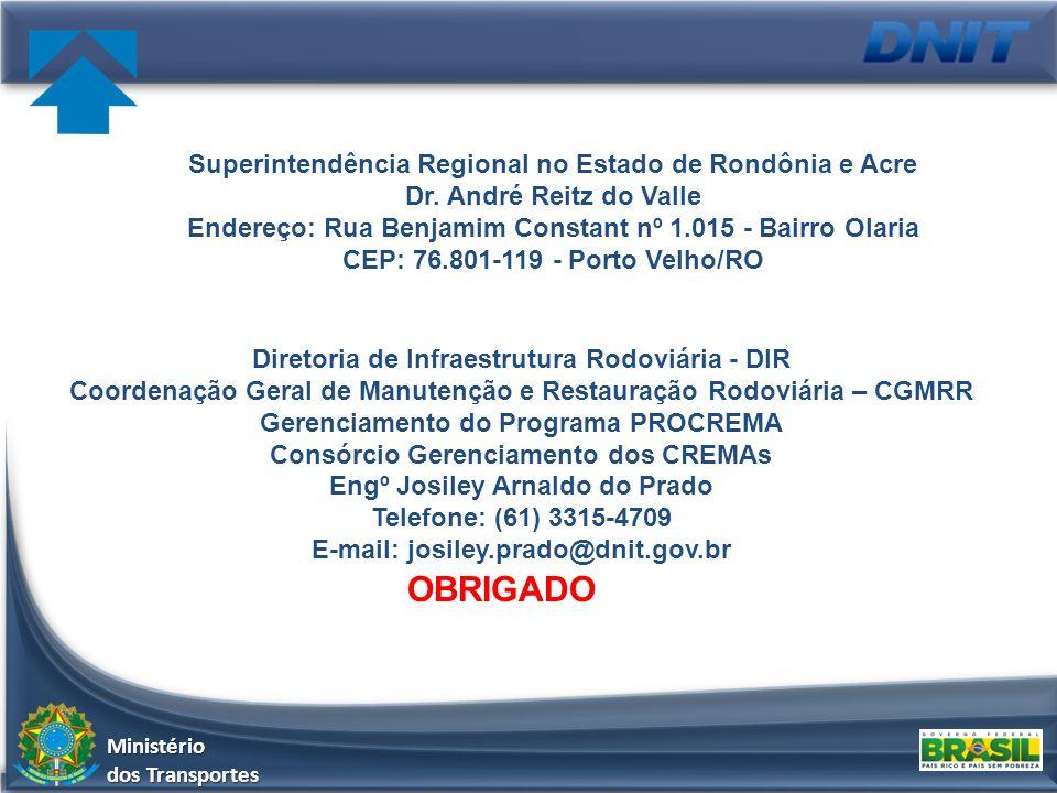 OBRIGADO Superintendência Regional no Estado de Rondônia e Acre