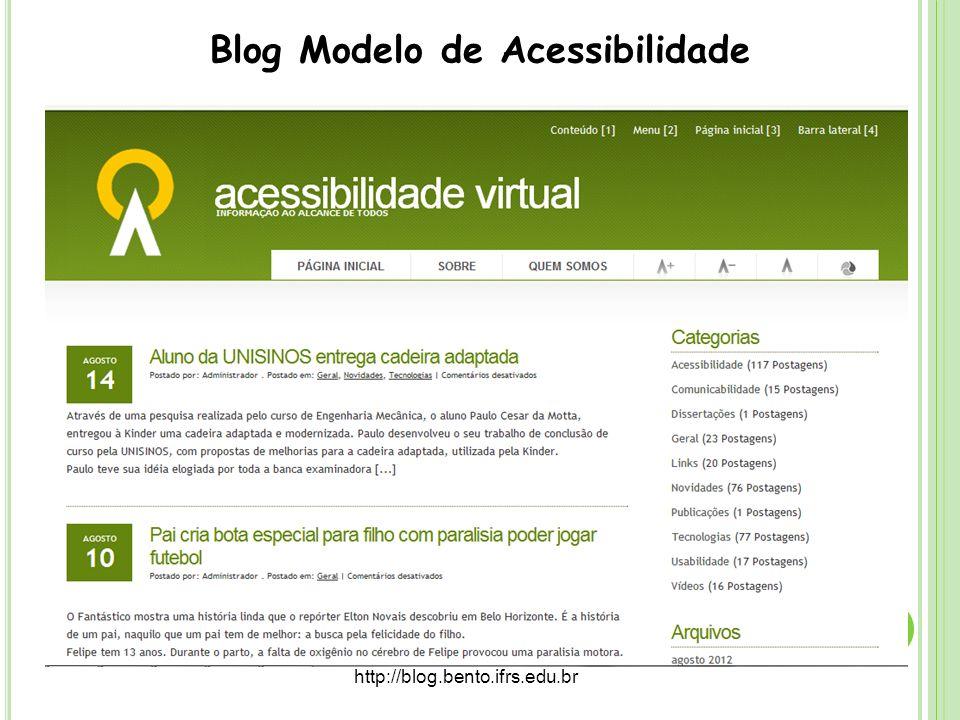 Blog Modelo de Acessibilidade