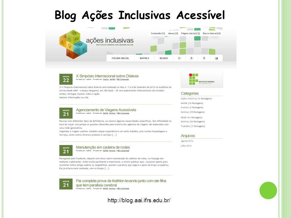 Blog Ações Inclusivas Acessível
