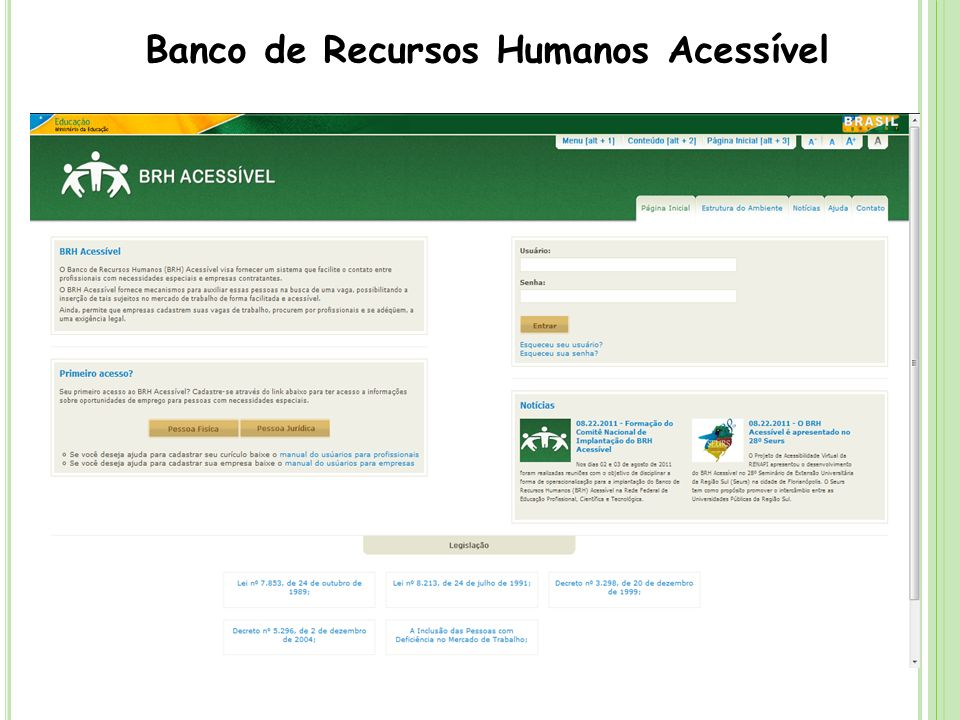 Banco de Recursos Humanos Acessível