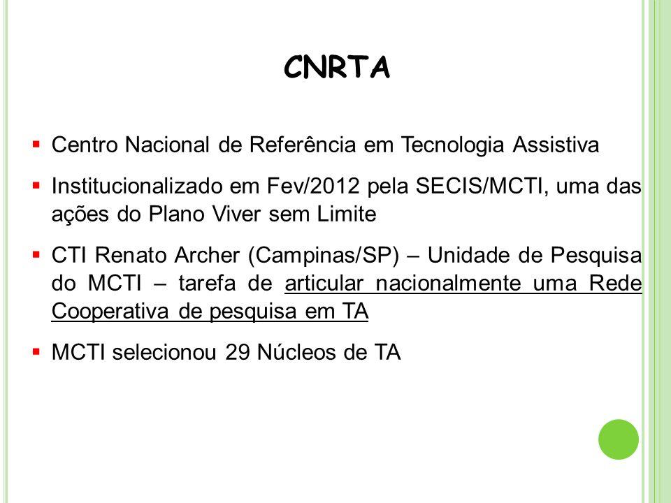 CNRTA Centro Nacional de Referência em Tecnologia Assistiva