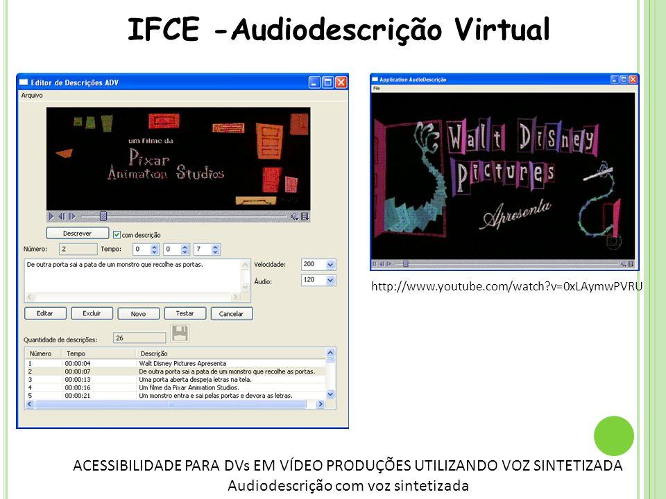 IFCE -Audiodescrição Virtual