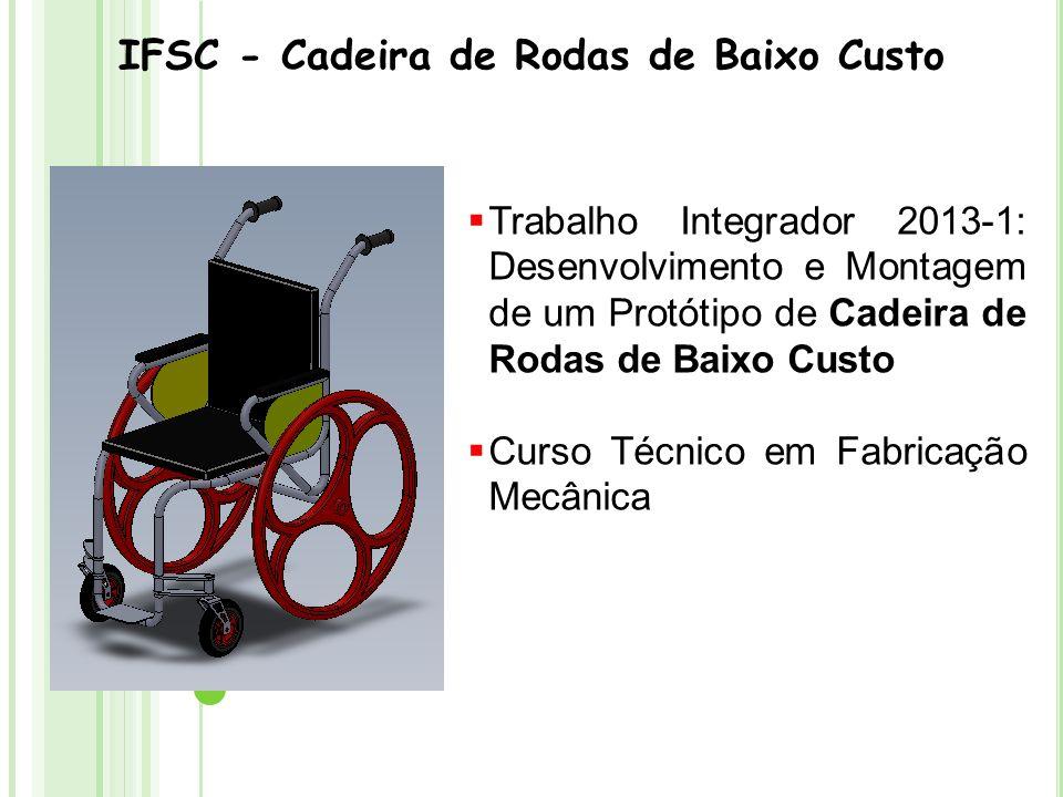 IFSC - Cadeira de Rodas de Baixo Custo