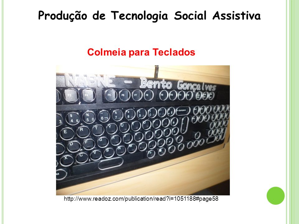 Produção de Tecnologia Social Assistiva