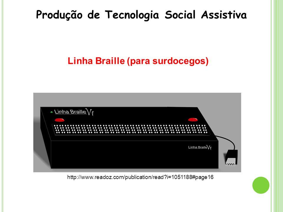 Linha Braille (para surdocegos)
