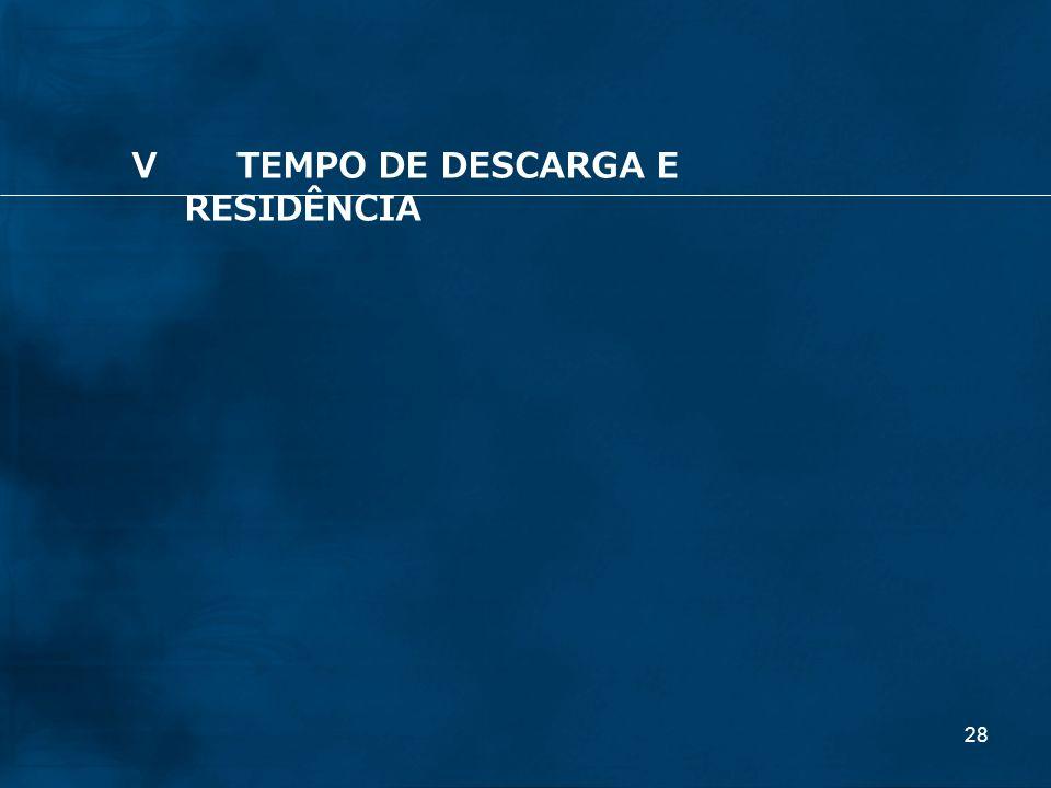 V TEMPO DE DESCARGA E RESIDÊNCIA