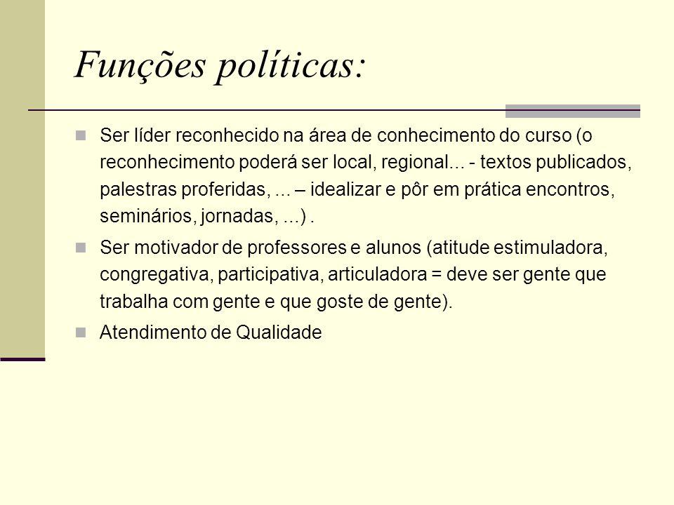 Funções políticas: