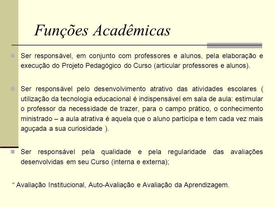 Funções Acadêmicas: