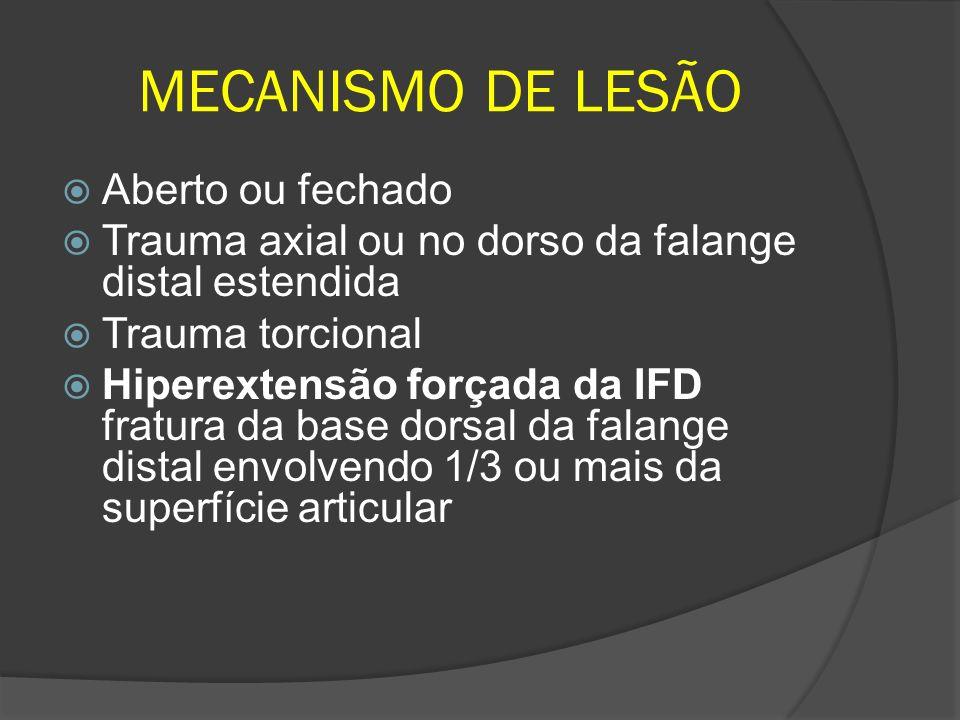 MECANISMO DE LESÃO Aberto ou fechado