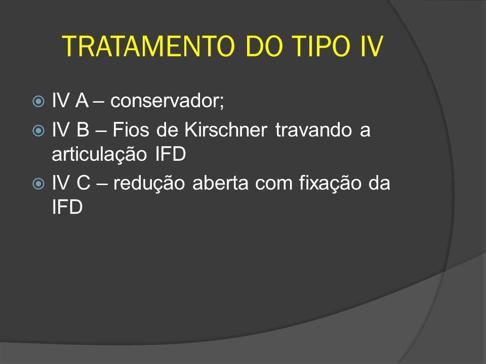 TRATAMENTO DO TIPO IV IV A – conservador;