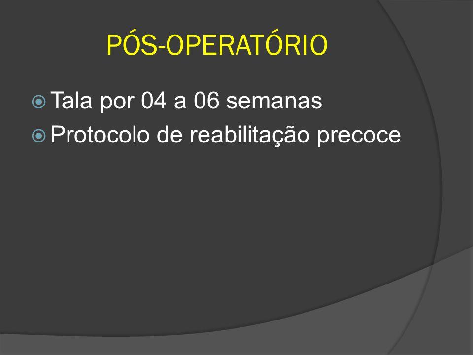 PÓS-OPERATÓRIO Tala por 04 a 06 semanas