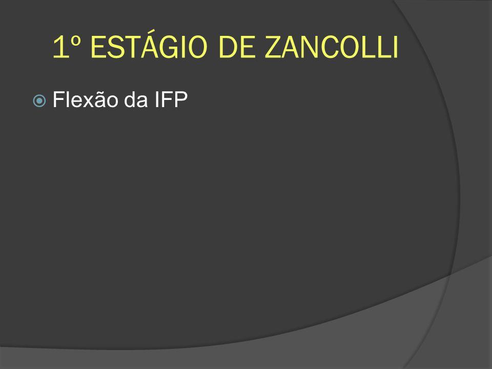 1º ESTÁGIO DE ZANCOLLI Flexão da IFP