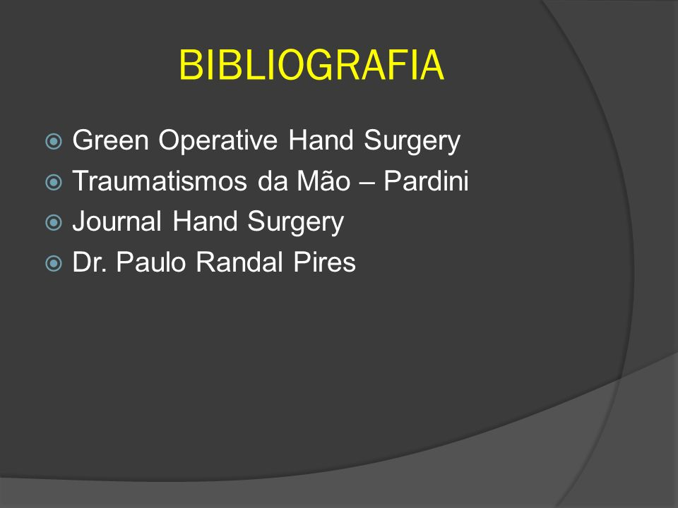 BIBLIOGRAFIA Green Operative Hand Surgery