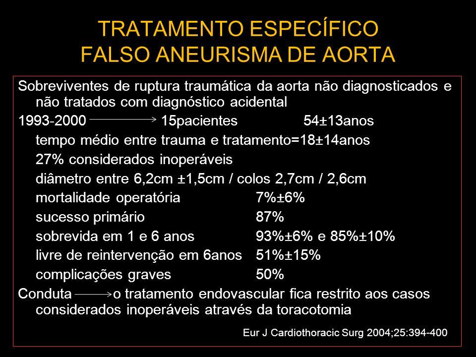 TRATAMENTO ESPECÍFICO FALSO ANEURISMA DE AORTA