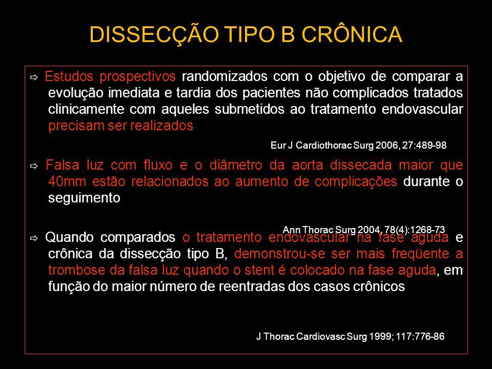 DISSECÇÃO TIPO B CRÔNICA