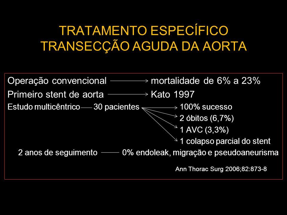 TRATAMENTO ESPECÍFICO TRANSECÇÃO AGUDA DA AORTA