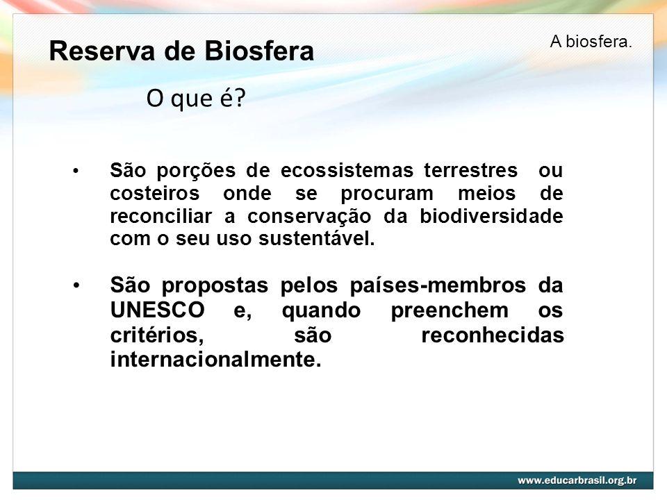 Reserva de Biosfera O que é