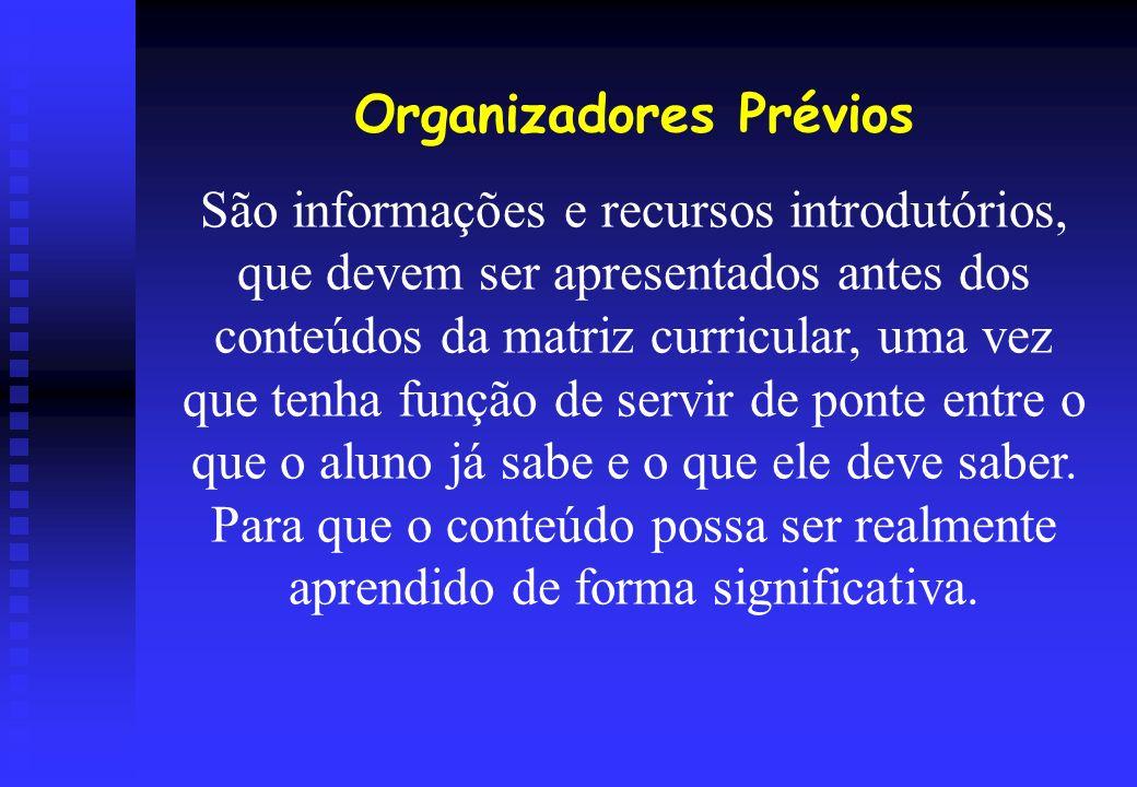 Organizadores Prévios