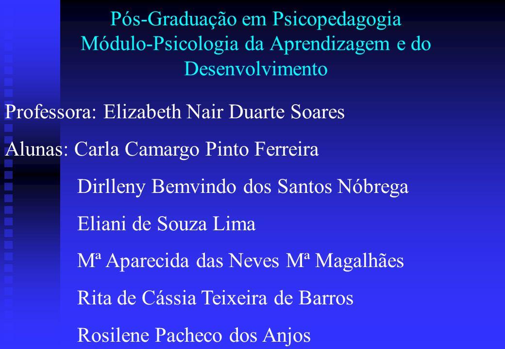 Pós-Graduação em Psicopedagogia Módulo-Psicologia da Aprendizagem e do Desenvolvimento