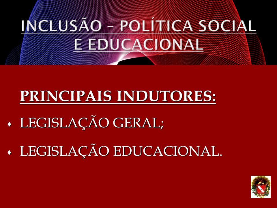 INCLUSÃO – POLÍTICA SOCIAL E EDUCACIONAL