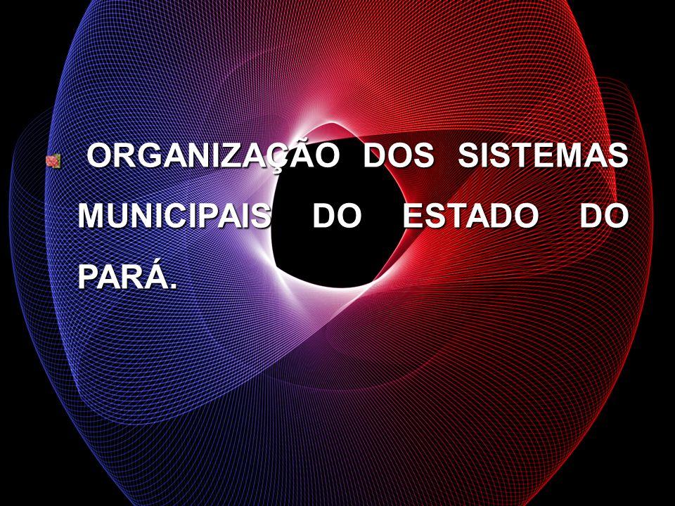 ORGANIZAÇÃO DOS SISTEMAS MUNICIPAIS DO ESTADO DO PARÁ.