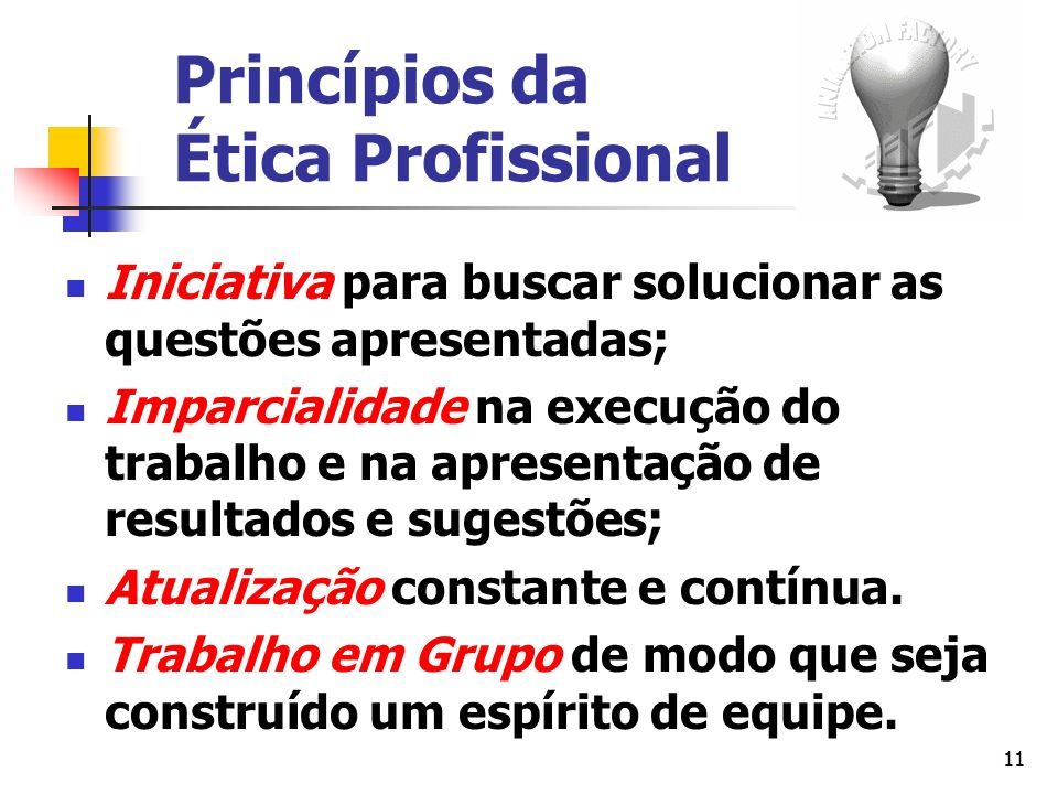Princípios da Ética Profissional