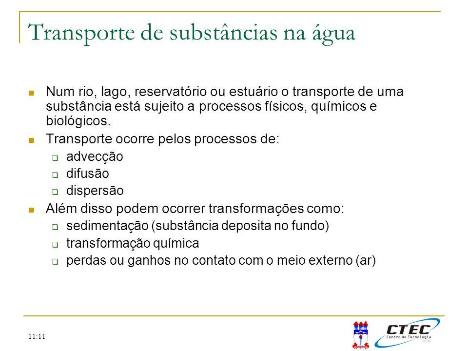 Transporte de substâncias na água
