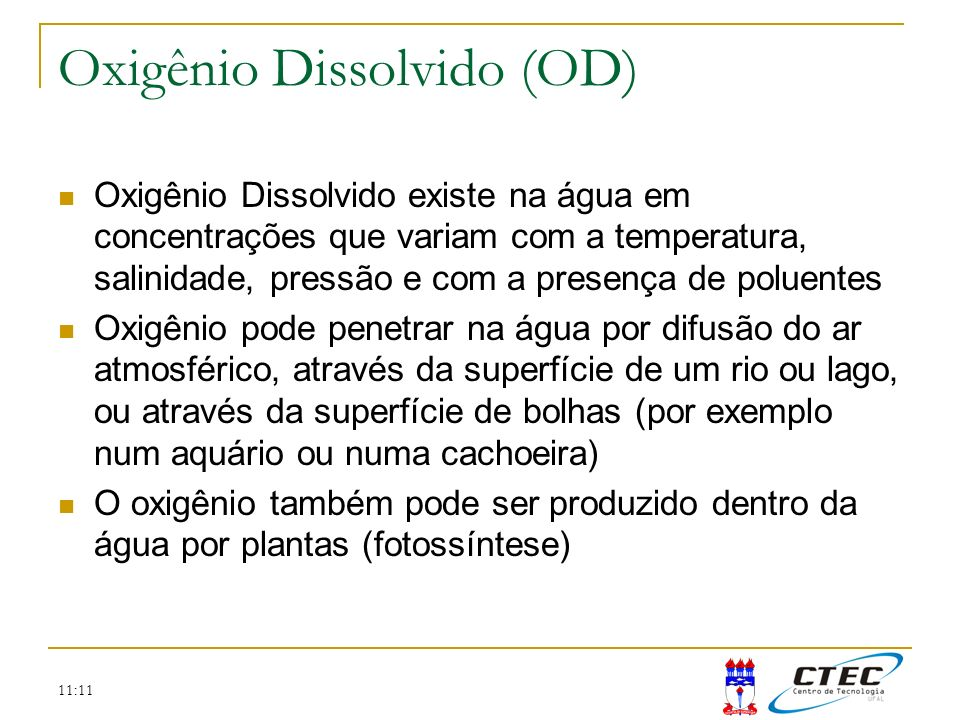 Oxigênio Dissolvido (OD)