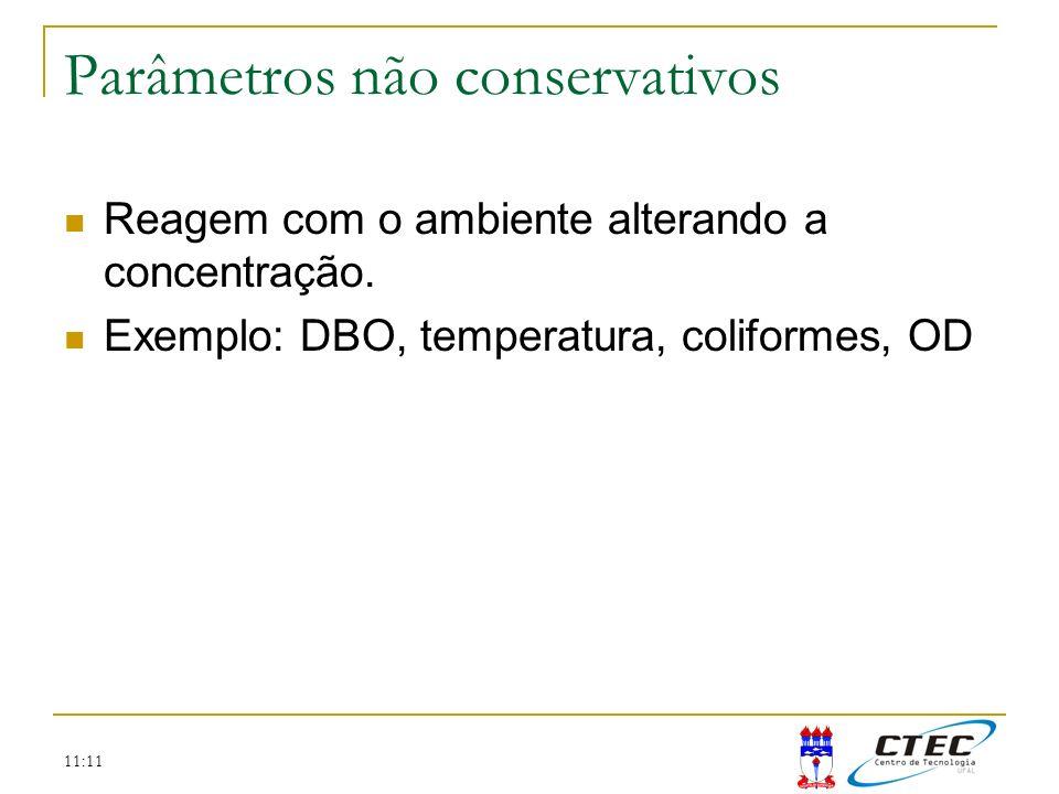 Parâmetros não conservativos