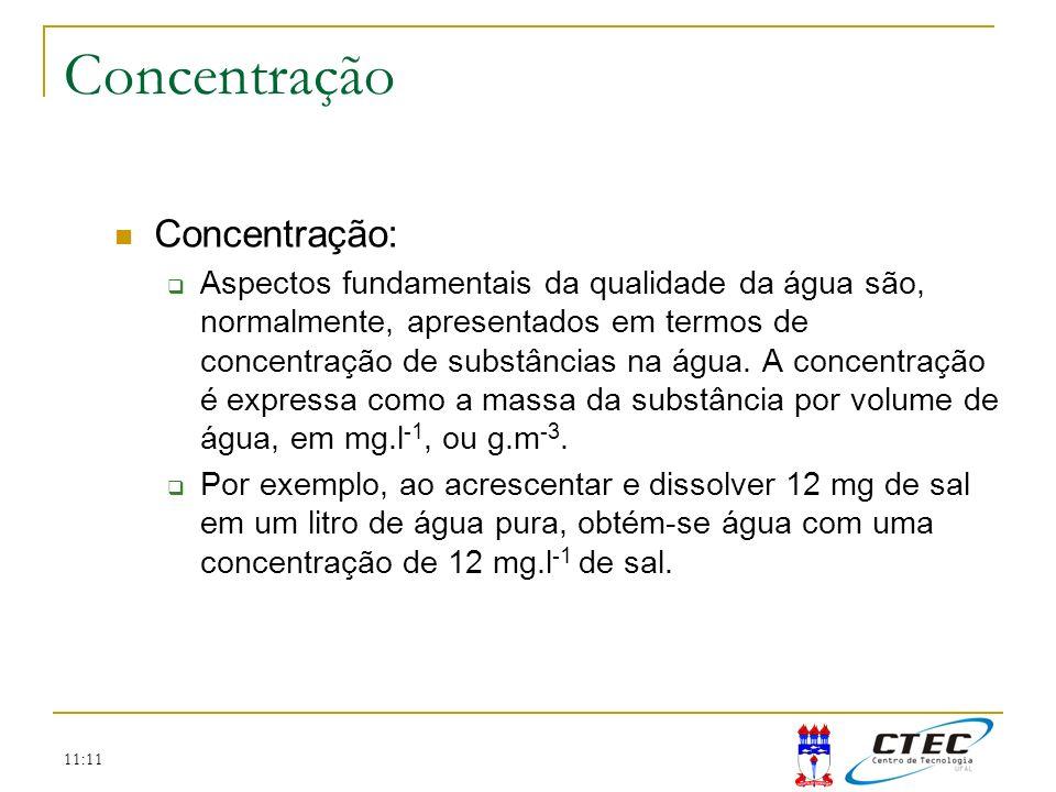 Concentração Concentração: