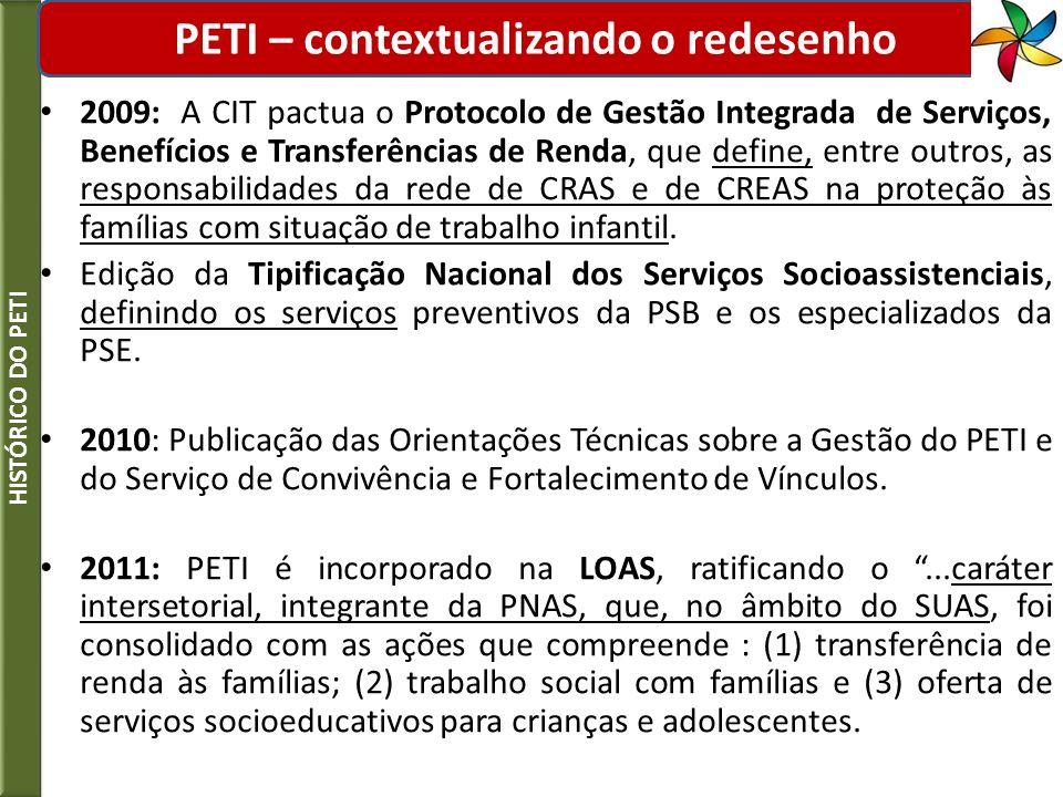 PETI – contextualizando o redesenho