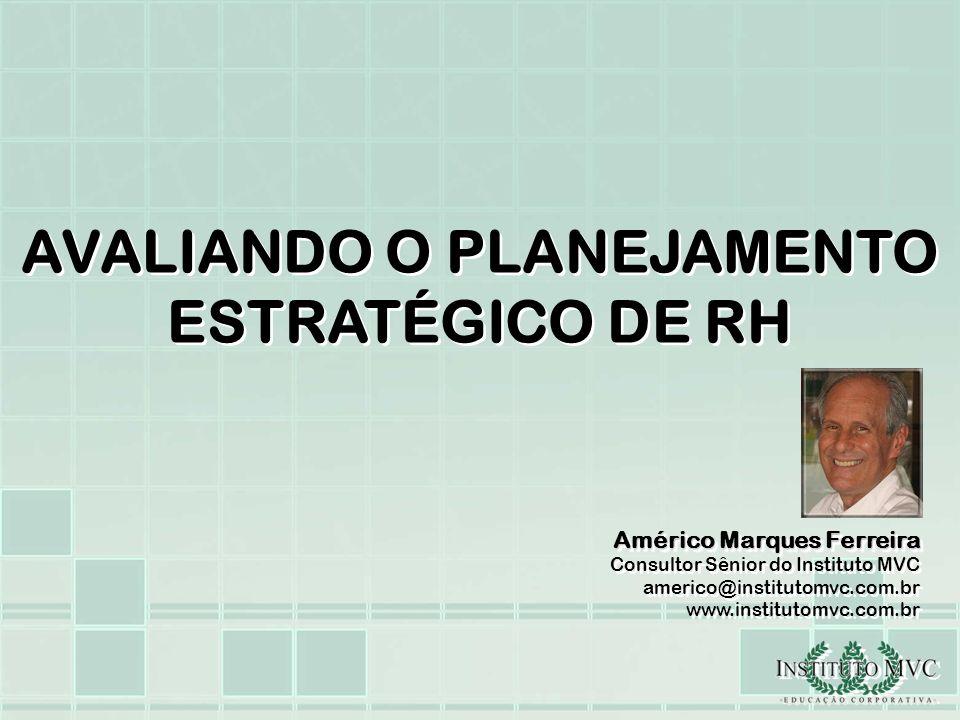 AVALIANDO O PLANEJAMENTO ESTRATÉGICO DE RH