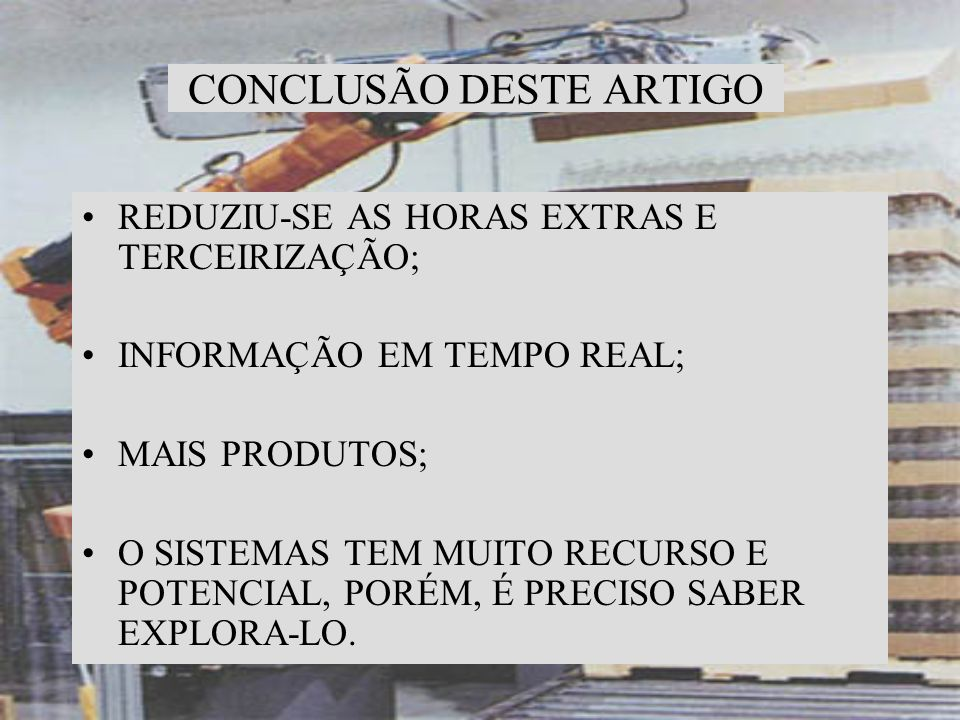 CONCLUSÃO DESTE ARTIGO