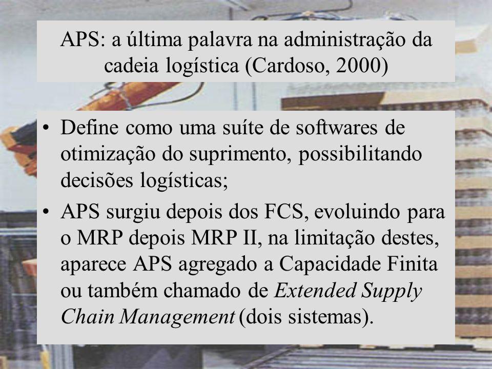 APS: a última palavra na administração da cadeia logística (Cardoso, 2000)