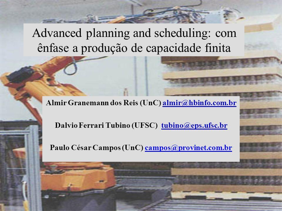 Advanced planning and scheduling: com ênfase a produção de capacidade finita