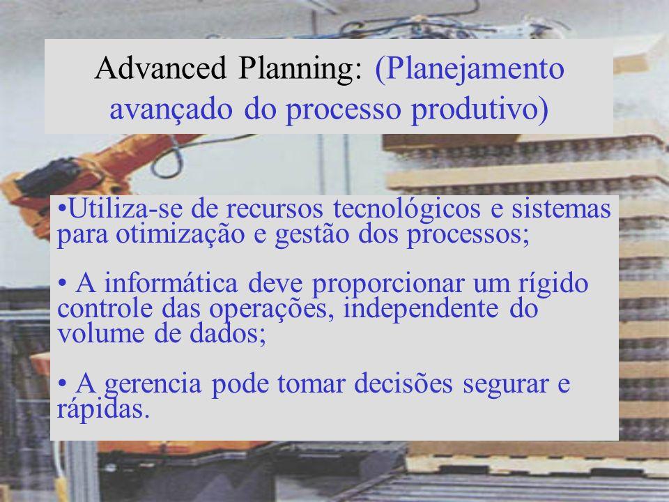 Advanced Planning: (Planejamento avançado do processo produtivo)