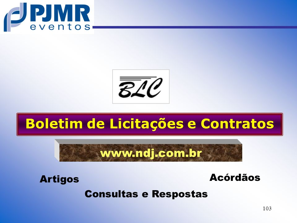 Boletim de Licitações e Contratos