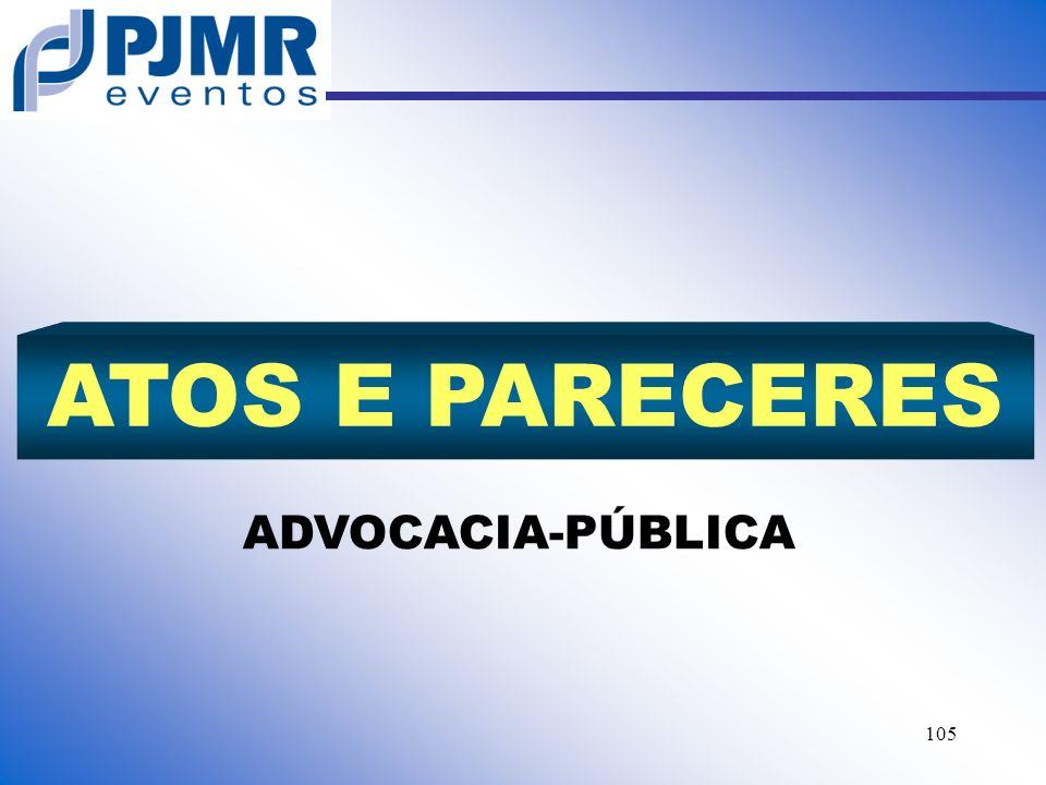 ATOS E PARECERES ADVOCACIA-PÚBLICA