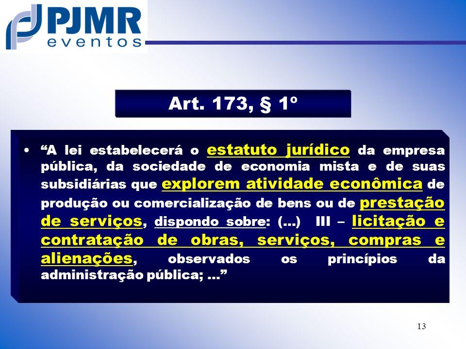 Art. 173, § 1º