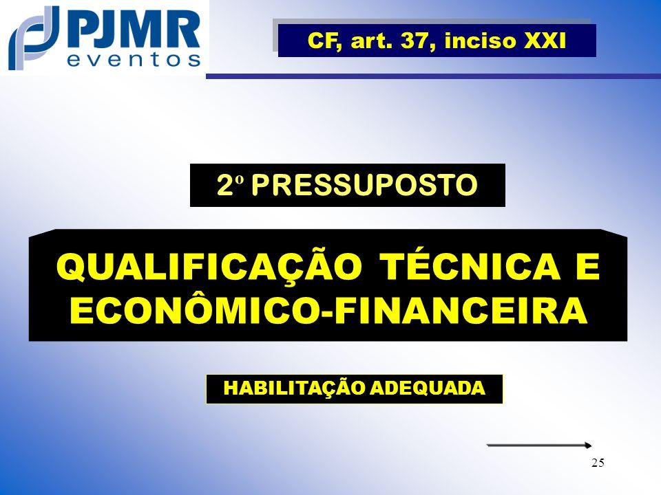 QUALIFICAÇÃO TÉCNICA E ECONÔMICO-FINANCEIRA