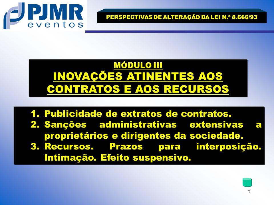 Publicidade de extratos de contratos.