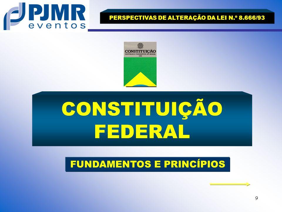 PERSPECTIVAS DE ALTERAÇÃO DA LEI N.º 8.666/93 FUNDAMENTOS E PRINCÍPIOS