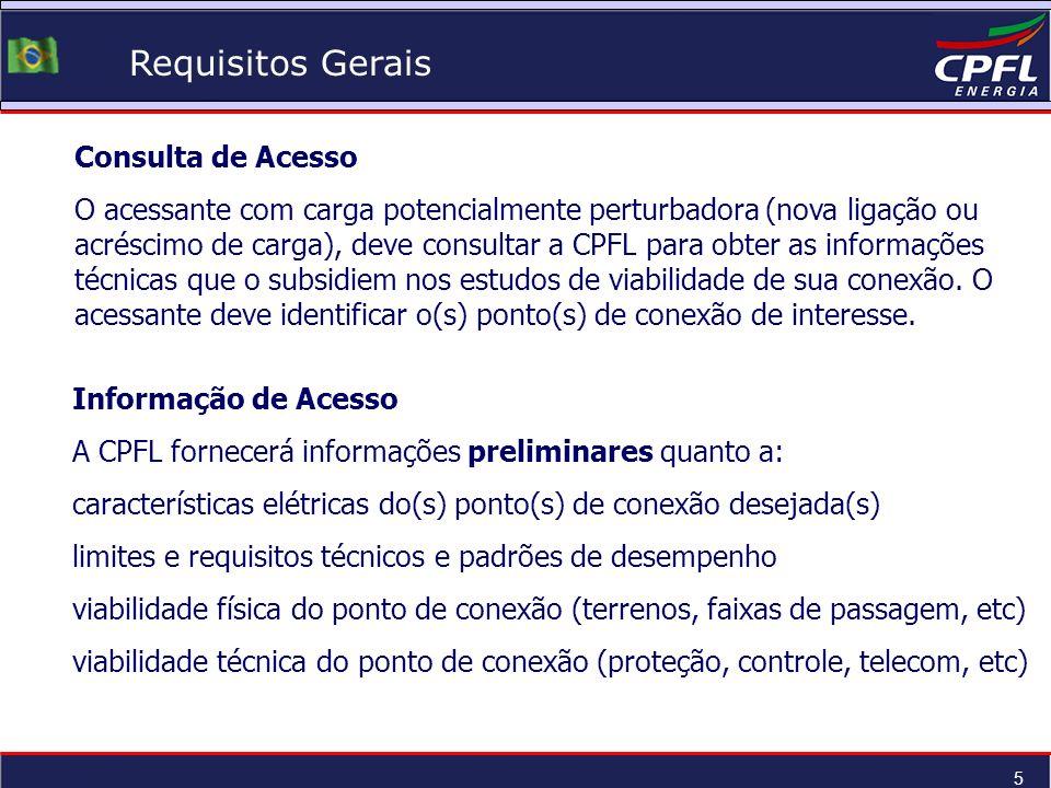 Requisitos Gerais Consulta de Acesso