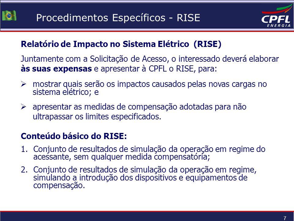 Procedimentos Específicos - RISE