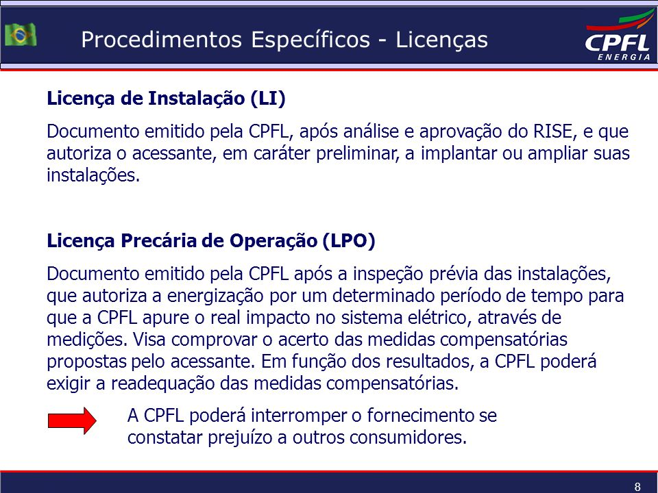 Procedimentos Específicos - Licenças