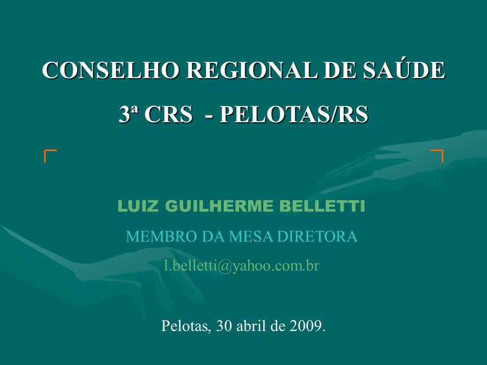 CONSELHO REGIONAL DE SAÚDE