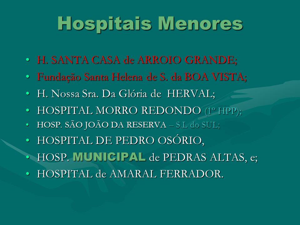 Hospitais Menores H. SANTA CASA de ARROIO GRANDE;